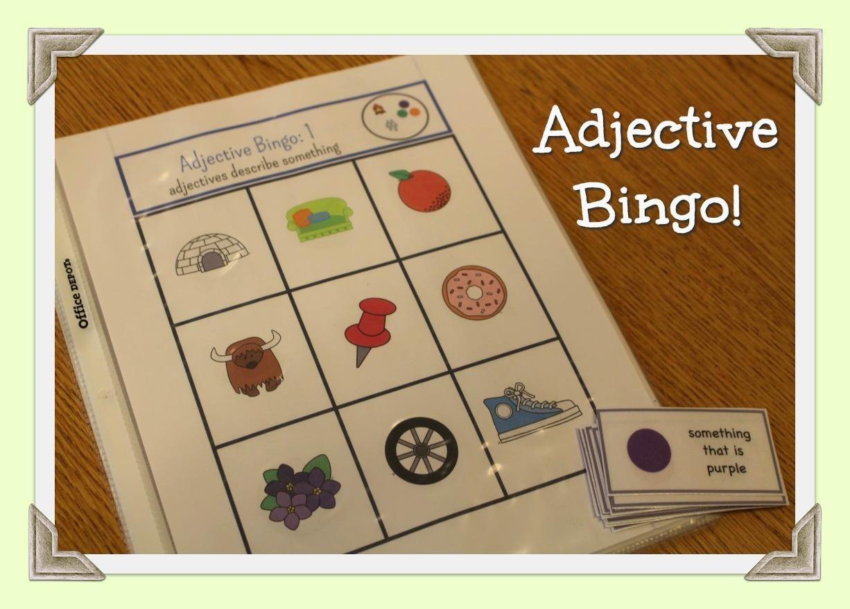 Adjective Bingo