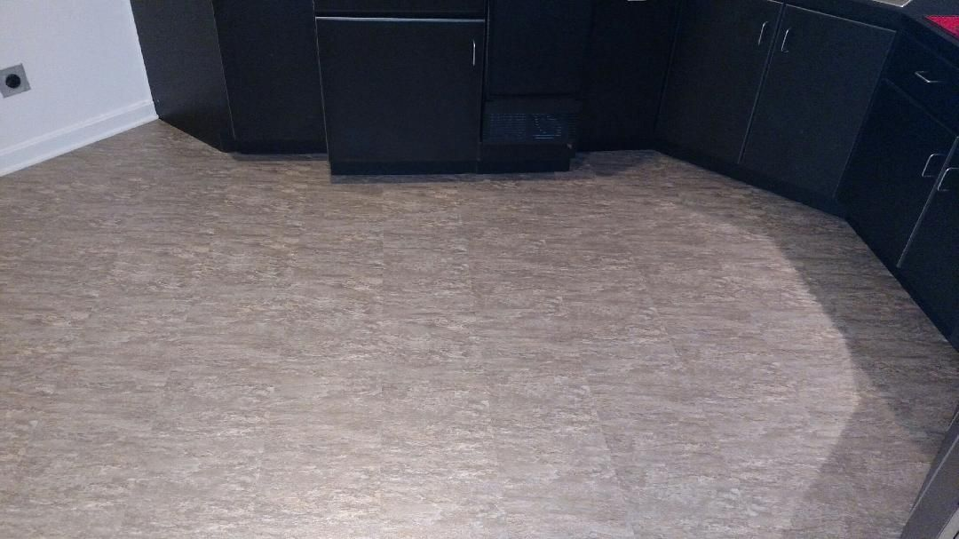 12 X 12 Luxury Vinyl Tile Flooring Installed In Harrison Ohio