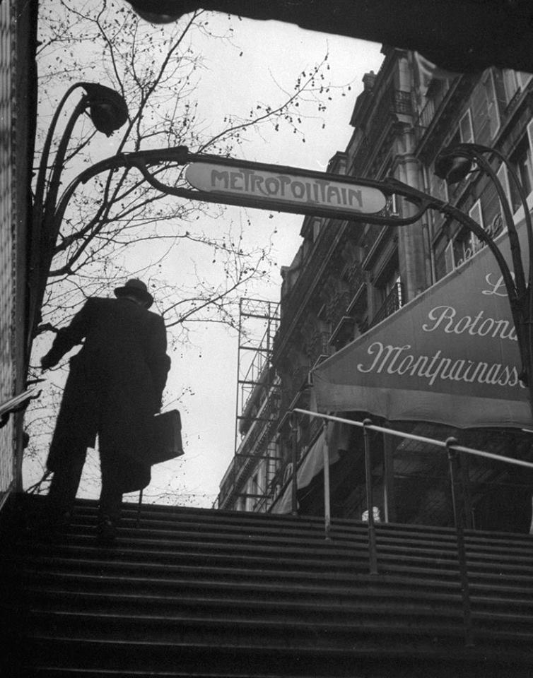 a Paris Metro station, 1946
