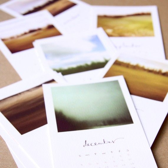 art calender! ooh i want to make this with future pics. from my film camera!