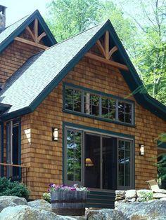 Cedar Shingles Black Trim And Cedar Siding On Pinterest