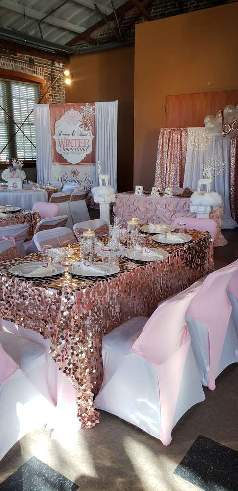 **Baby Shower Winter Theme Girl** Melody's  Baby Shower / Baby, it's Cold Outside - Photo Gal...
