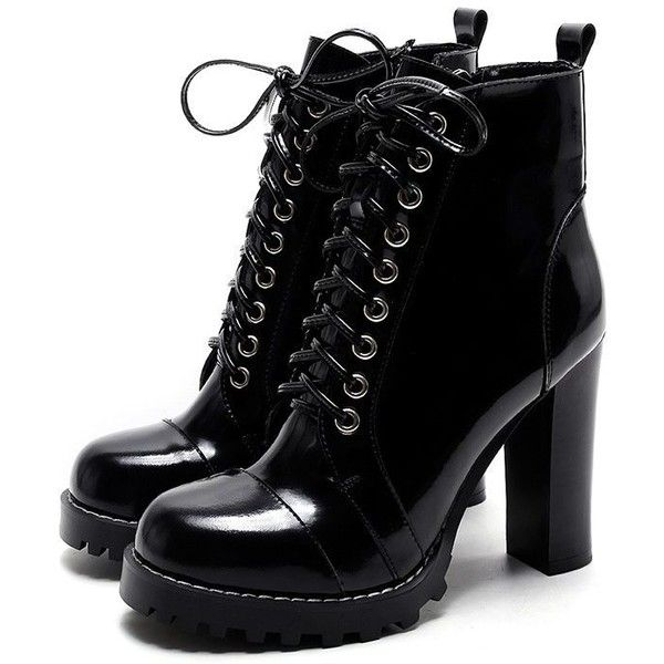 8b1e95eccc79 Chiko Renee Platform Chunky Heel Combat Boots ( 123) ❤ liked on Polyvore  featuring shoes