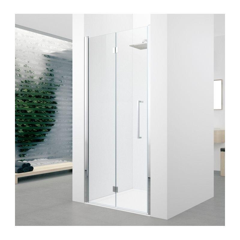 Porte de douche tall cabinet storage home decor storage Porte pliante 90 cm transparente