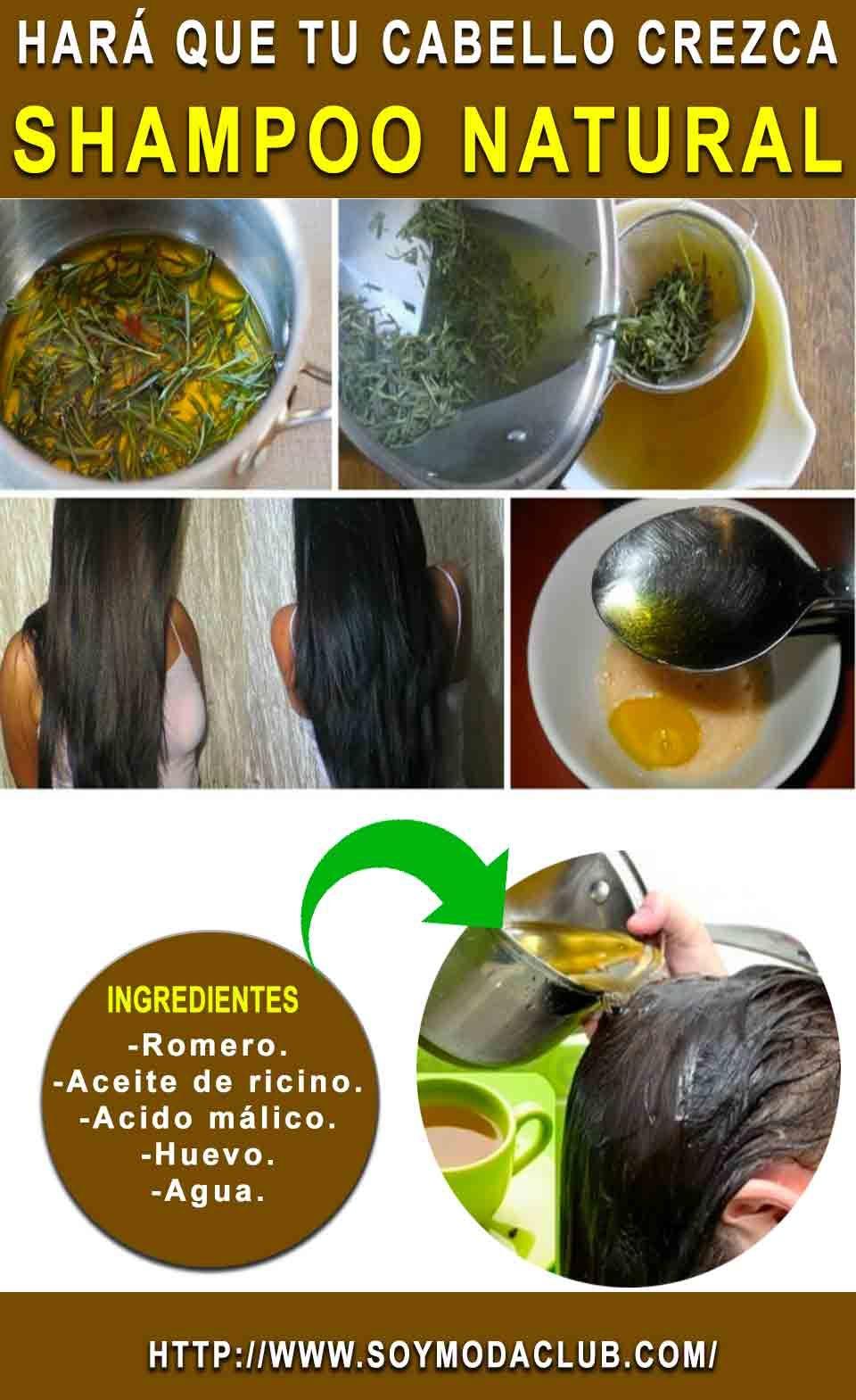 Shampoo Natural Hará Que Tu Cabello Crezca Como Loco Quedara Brillante Y Con Volumen Soy Moda Natural Shampoo Beauty Care Shampoo