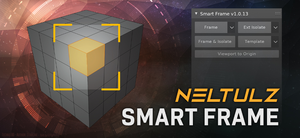 Neltulz Add On Smart Frame Quickly Frame Isolate Template Objects Blendernation In 2020 Interactive Design Templates Frame