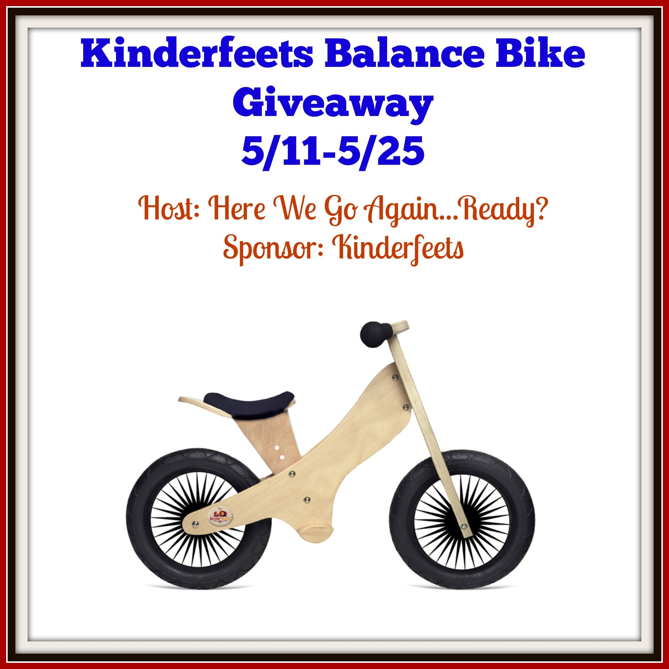 Kinderfeets Retro Balance Bike Giveaway Ends 5 25 Kinderfeets Balance Bike Giveaway Sweepstakes