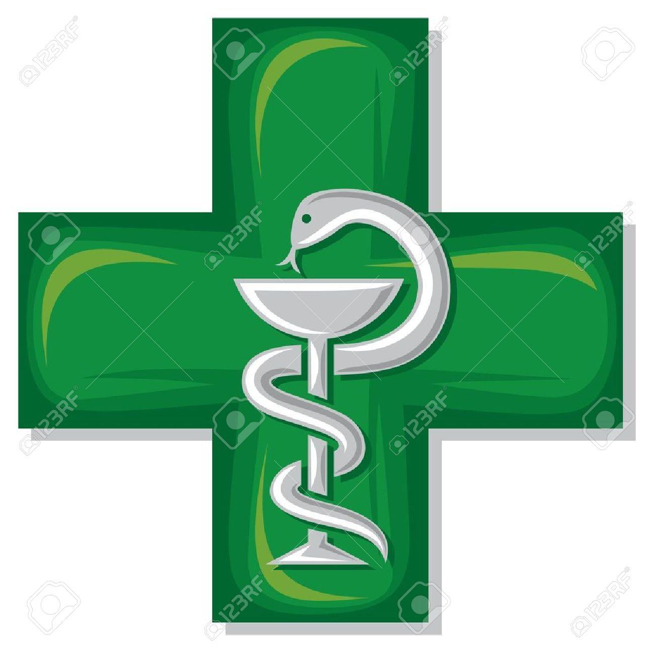 Medical Cross Symbol Emblem For Drugstore Or