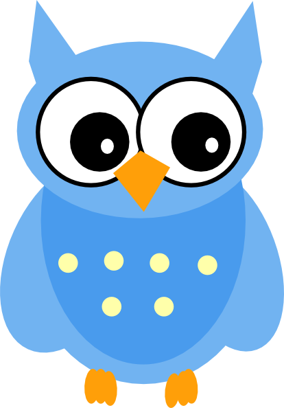 cute cartoon owls blue owl clip art vector clip art online rh pinterest com owl cartoon clip art cute Owl On Branch Clip Art