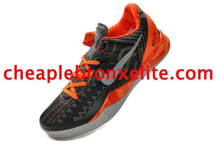 new style 0a315 0e15d Kobe 8 Shoes Black History Month BHM Grey Bright Orange