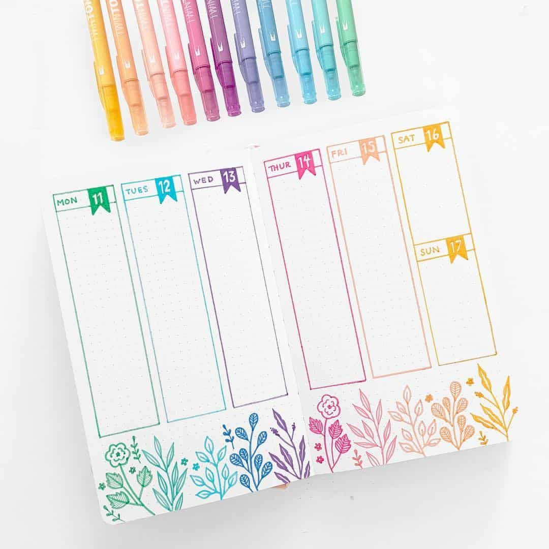 27 Essential stationery swatch bullet journal layouts for stationery addicts | My Inner Creative