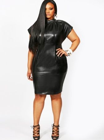 cutethickgirls.com plus size leather dress (02) #plussizedresses ...