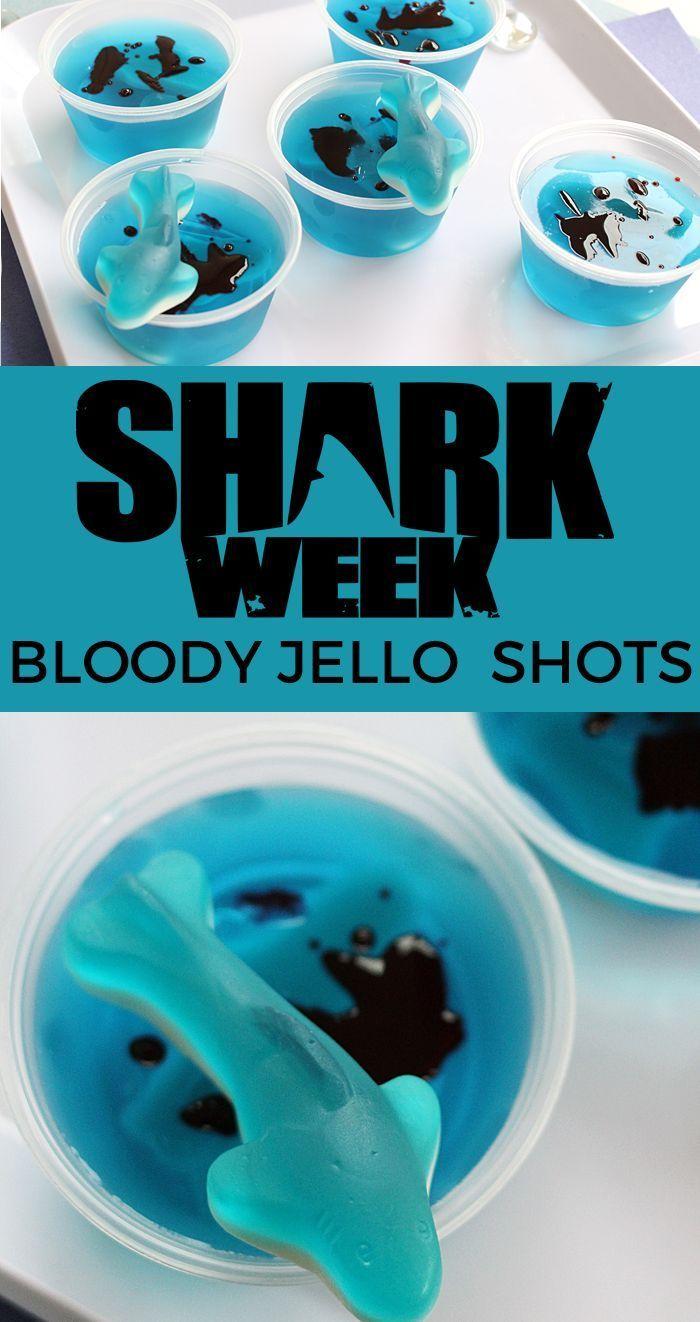 Bloody Jello Shots for Shark Week