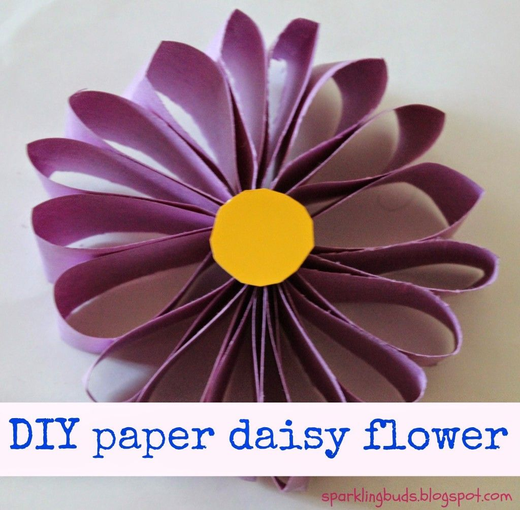 Easy paper flower :http://sparklingbuds.com/2014/04/easy-paper ... for How To Make Paper Roses With Construction Paper Step By Step  156eri