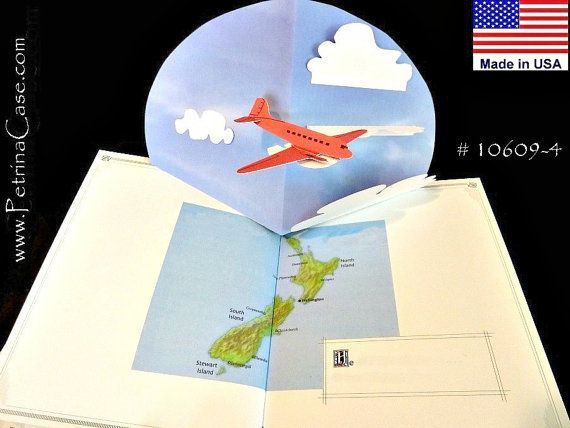 Plane Pop Up Card Item 10609 Etsy Pop Out Cards Pop Up Greeting Cards Cards