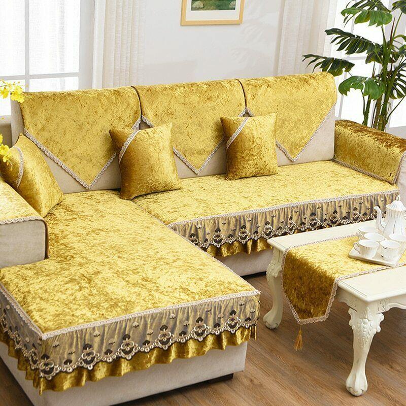 Ebay Link Pu Leather L Shape Sofa Cushion Short Plush Non Slip Sofa Cover Lace Sofa Towel Plush Sofa Ideas Of Ideias Para Mobilia Capa De Sofa Decoracao