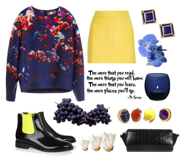 """""""FLOWER POWER UP!"""" by jlynn-jlynn ❤ liked on Polyvore featuring MSGM, J.Crew, Communication Love, Marc by Marc Jacobs, LSA International, Tory Burch, Kenneth Jay Lane, Christopher Kane, Alexander Wang and Didi Jewellery"""