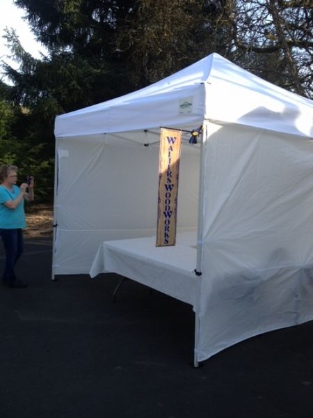 Craft Show 10x10 Canopy Package Deal 4 Sidewalls Weight Bags