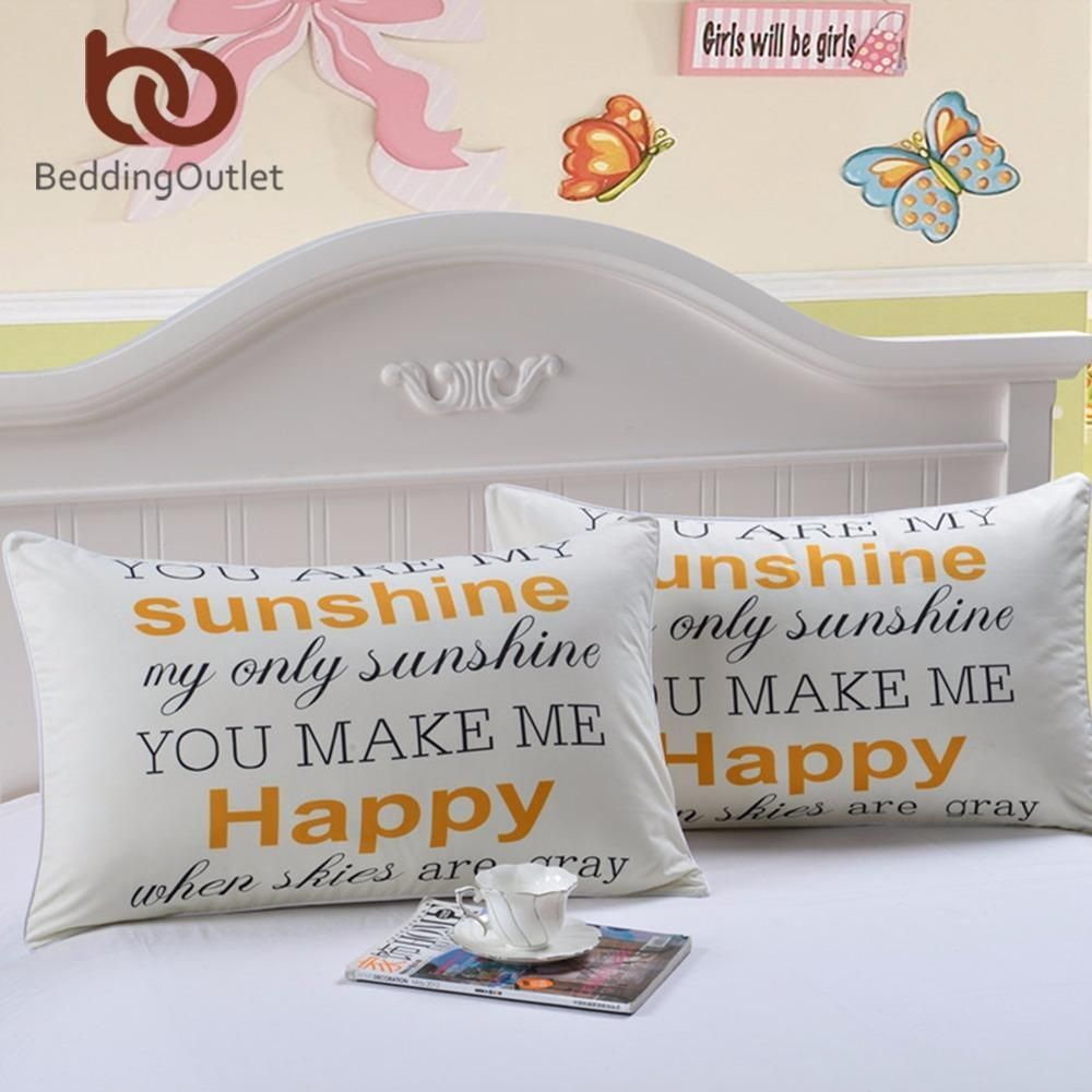 Buy Beddingoutlet Sunshine Body Pillow Case Letters Print Home