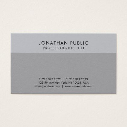 Create your own modern elegant grey chic plain business card reheart Image collections