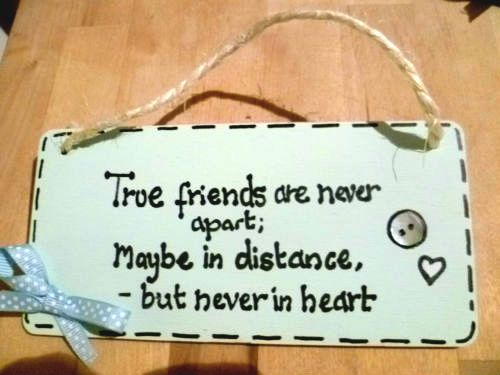 Friend Quote Plaque : ? wooden personalised gift plaque sign true friends