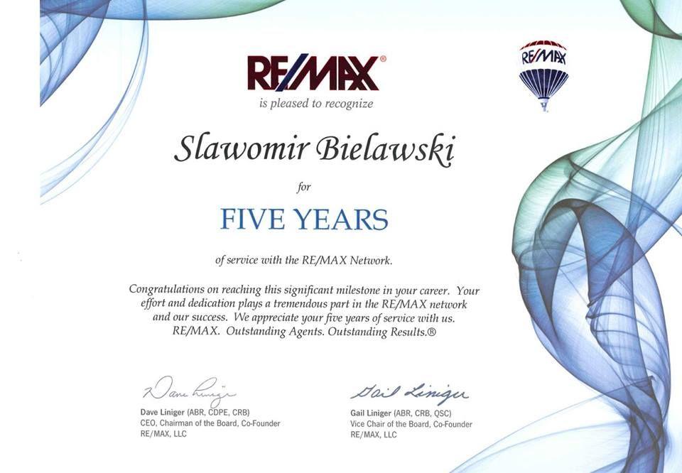 5 Lat W Remax Remax Wszdzie Pinterest Real Estate