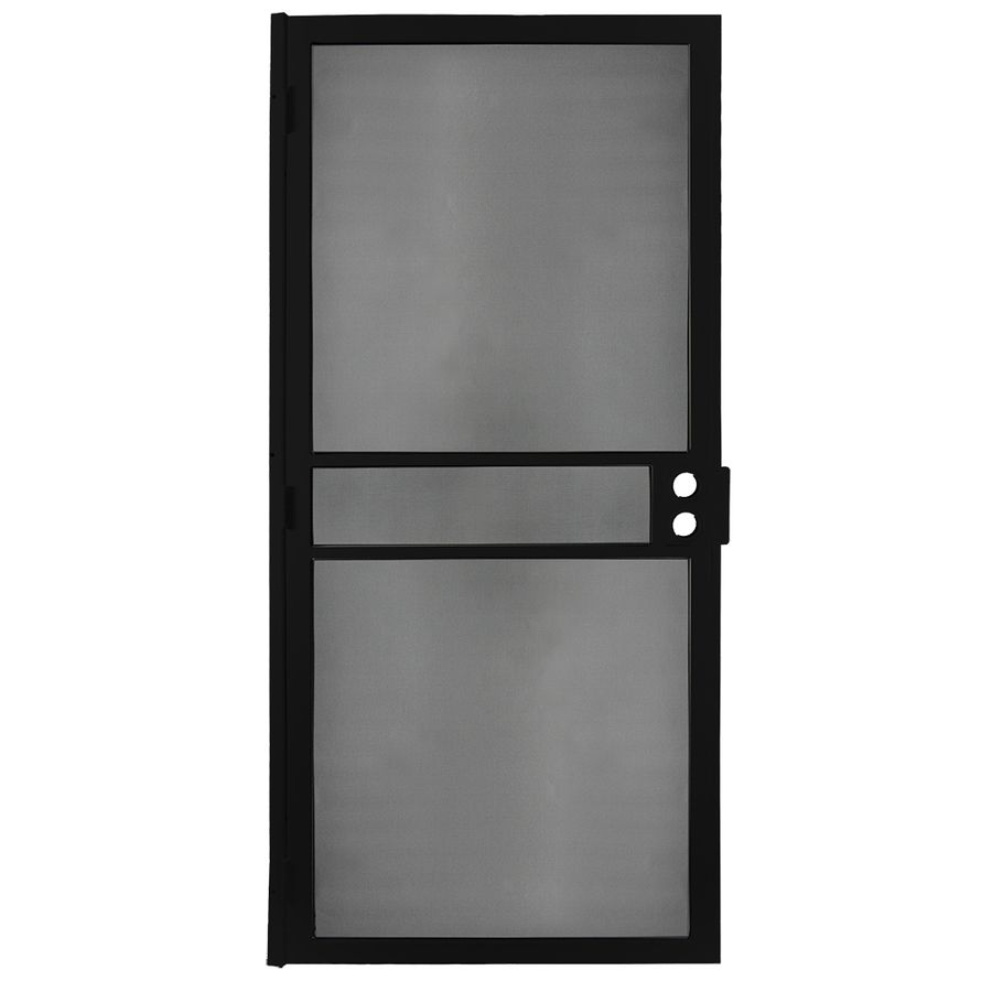 Gatehouse Preferred Black Steel Surface Mount Single Security Door