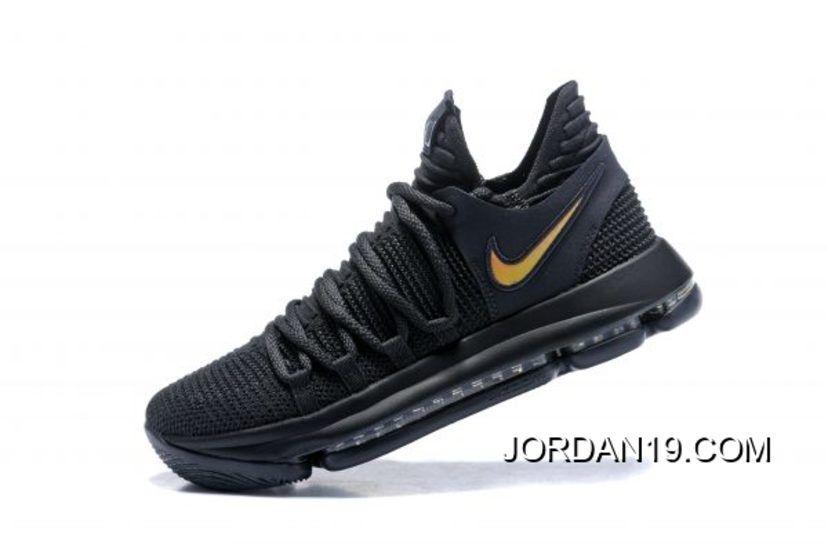 "741d7720529edf 2019 的 Outlet For Sale Nike KD 10 ""PK80"" Black Metallic Gold Men s ..."