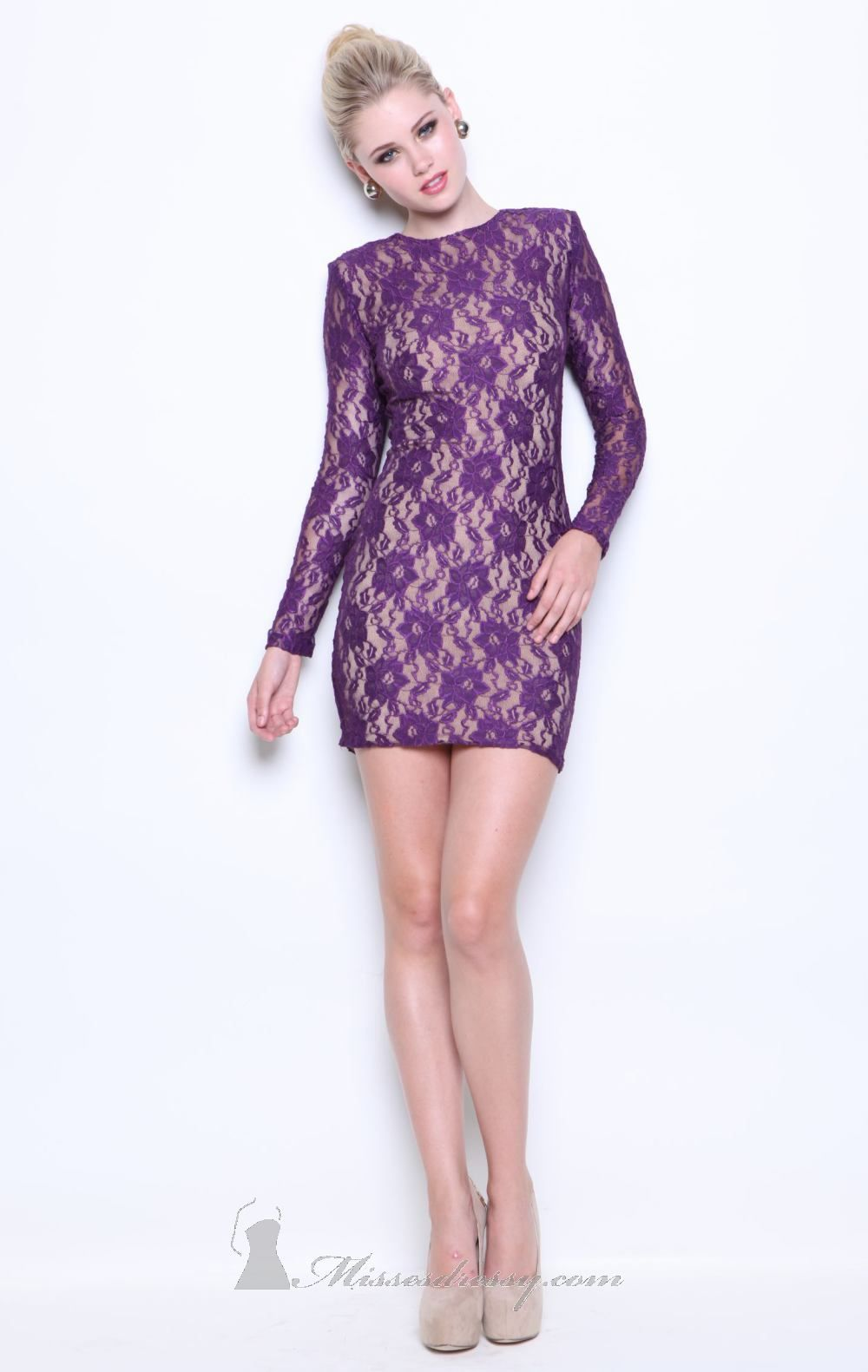 Atria 8060 Dress - MissesDressy.com  #lace #purple