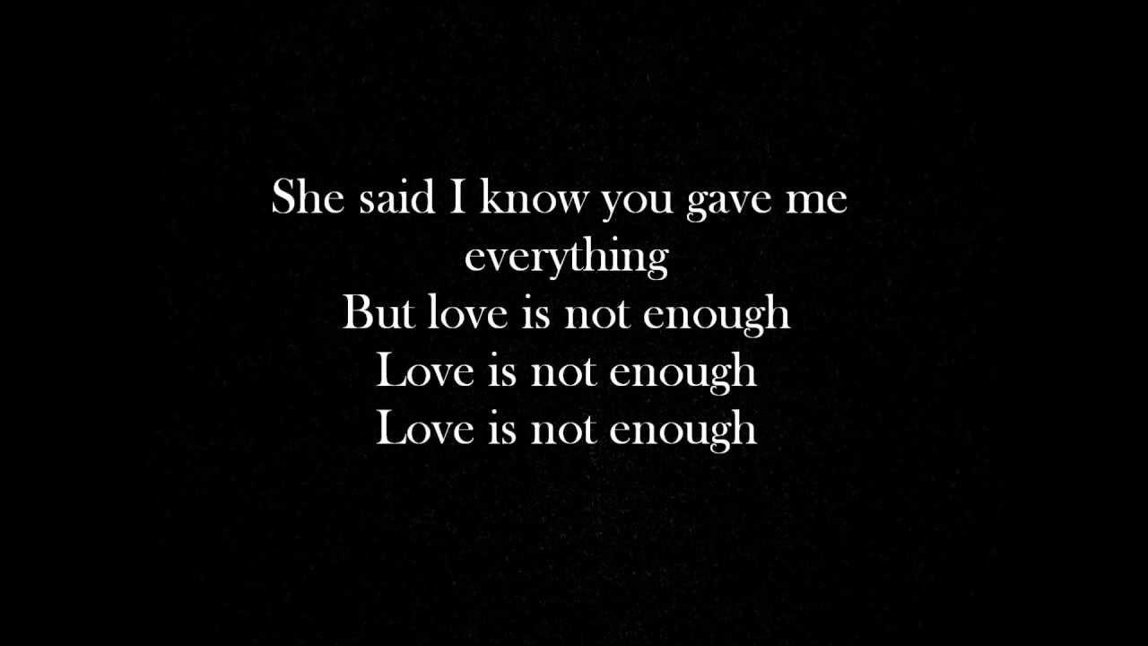 Yelawolf - Love Is Not Enough lyrics | <3 yelawolf