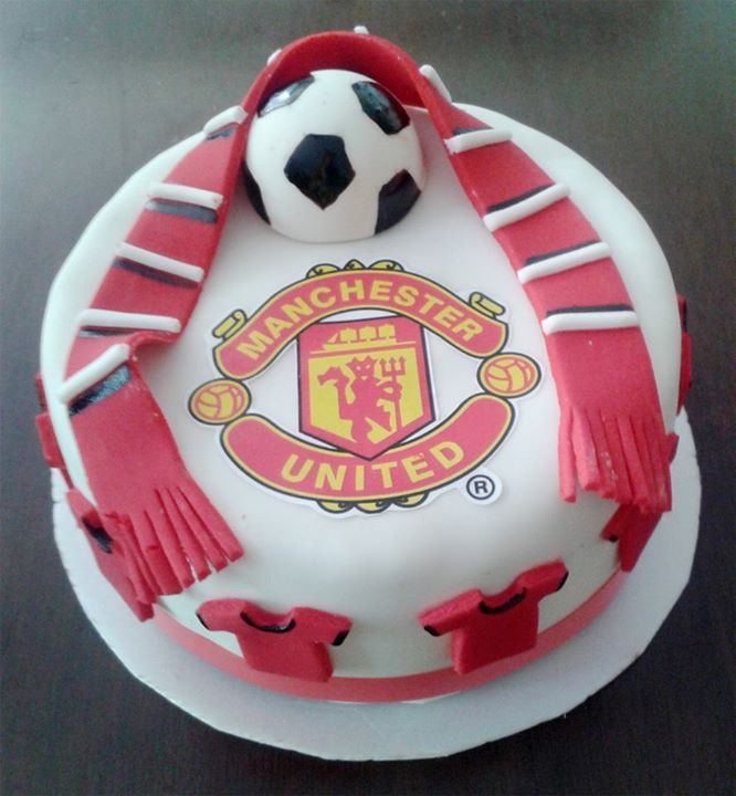 Excellent Torta Manchester United Manchester United Cake Soccer Birthday Birthday Cards Printable Nowaargucafe Filternl