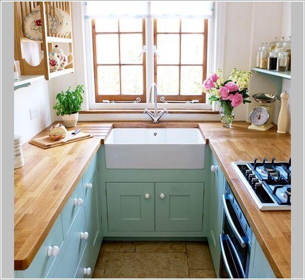 cocina parezca más grande - diseño forma de U | cocina pequeña ...