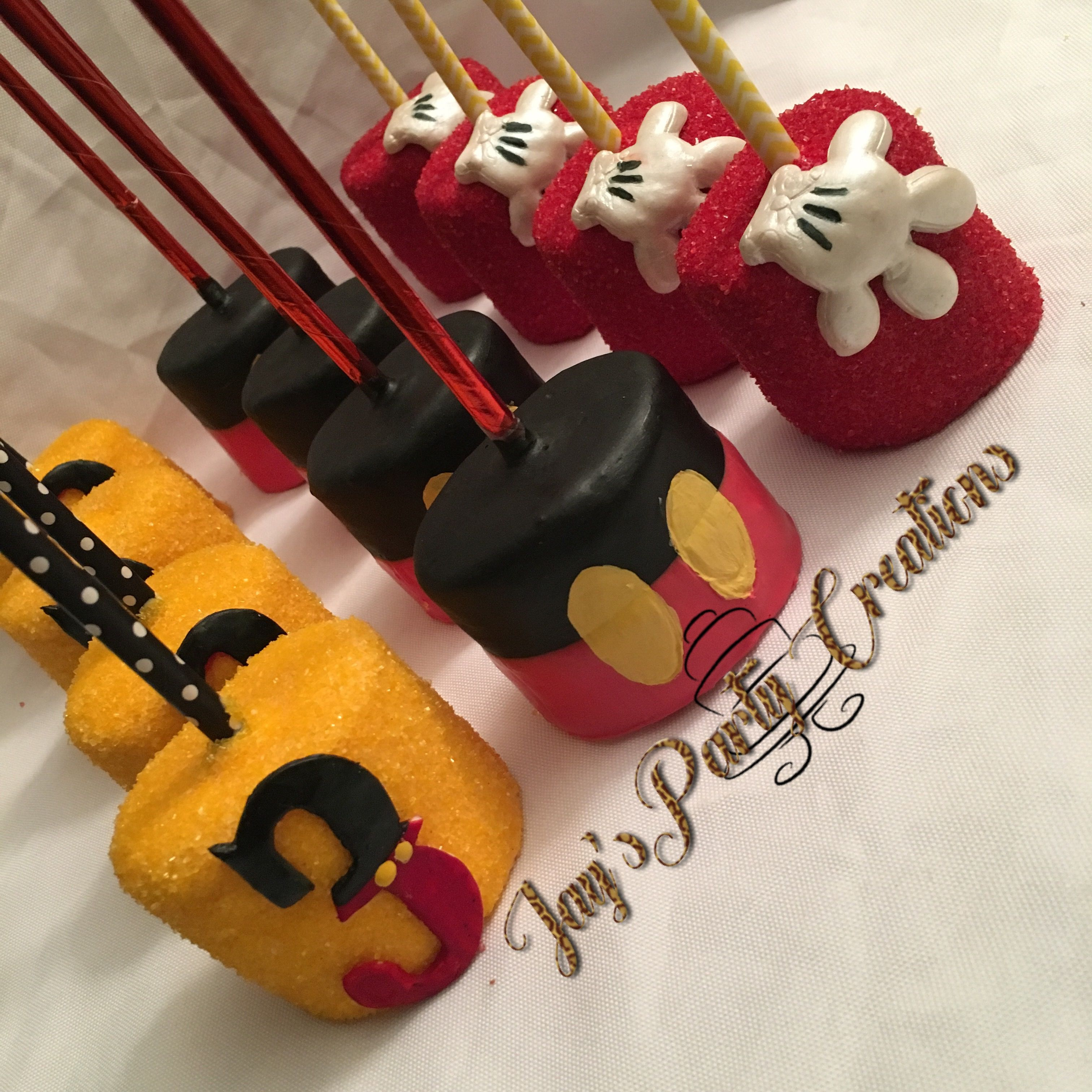 Mickey Mouse chocolate covered marshmallows | Jays Party Creations ...