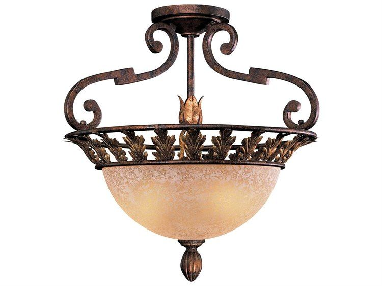 Metropolitan Lighting Zaragoza Golden Bronze Three Lights