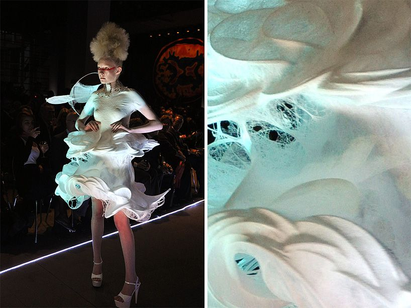 Sustainable Spray On Clothing Technology Turns Into Fabric Instantly Technology Clothes Fashion Futuristic Fashion