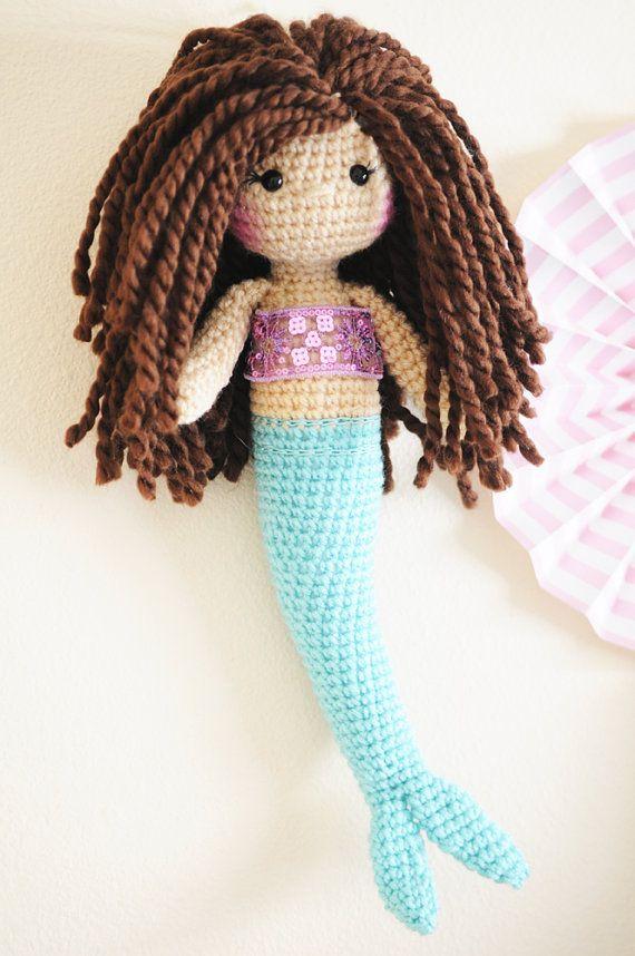 Amigurumi crochet doll pattern: crochet mermaid pattern | 858x570