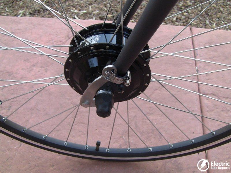 The E Bike Kit Comes With A Torque Arm To Spread The Motor Force