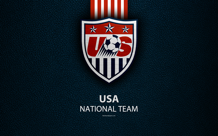 Download Wallpapers United States National Football Team 4k Leather Texture North America Usmnt Logo Emblem Usa Football Usa National Soccer Team Besth Usmnt National Football Teams Usa National Team