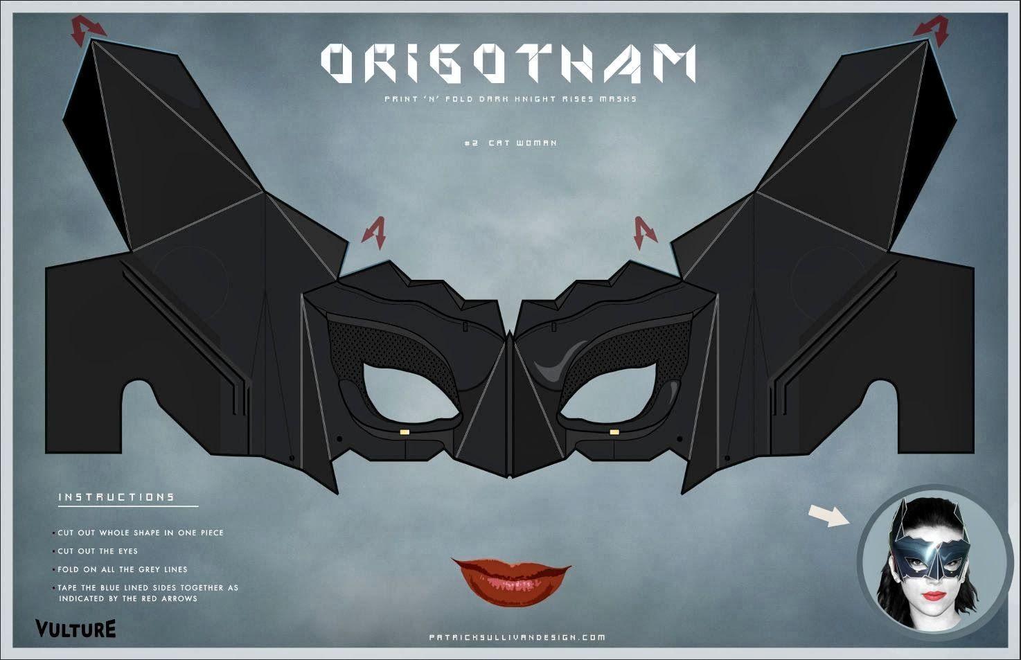 Máscaras de Batman y Batichica para Imprimir Gratis.   Ideas y ...