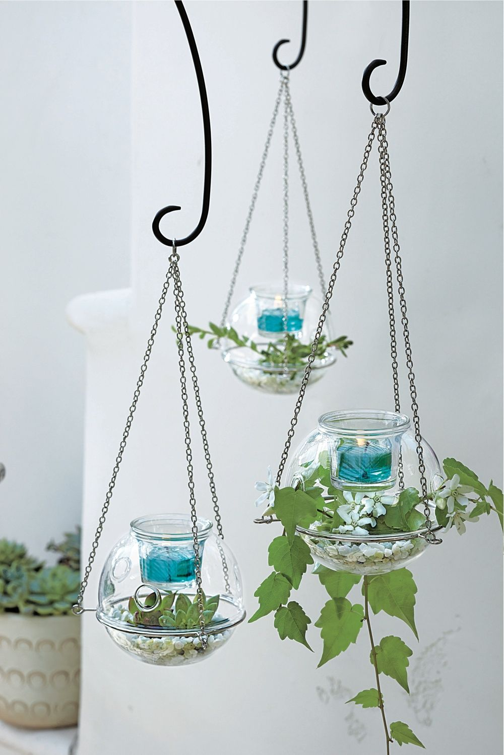 Create your own mini garden in glass with the new Hanging Terrarium Votive Holder!  www.partylite.biz/warmthesoulwkim