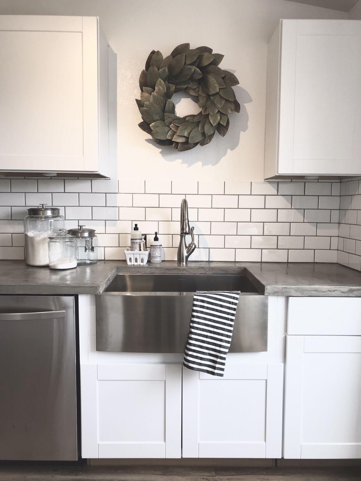 40+ Stunning Kitchen Concrete Countertop Ideas | Diy ...