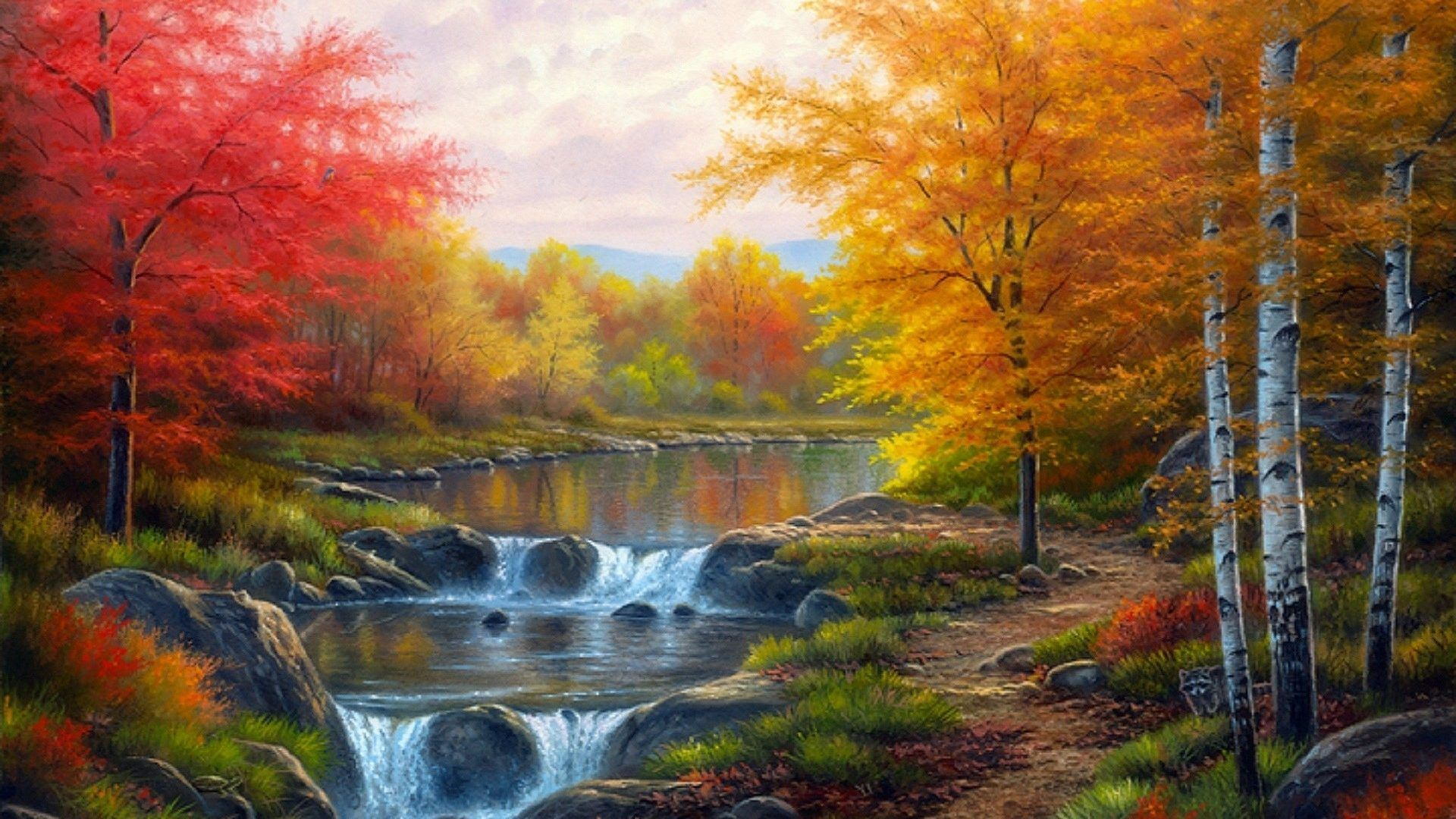 Autumn Glory Colorful Places Paintings