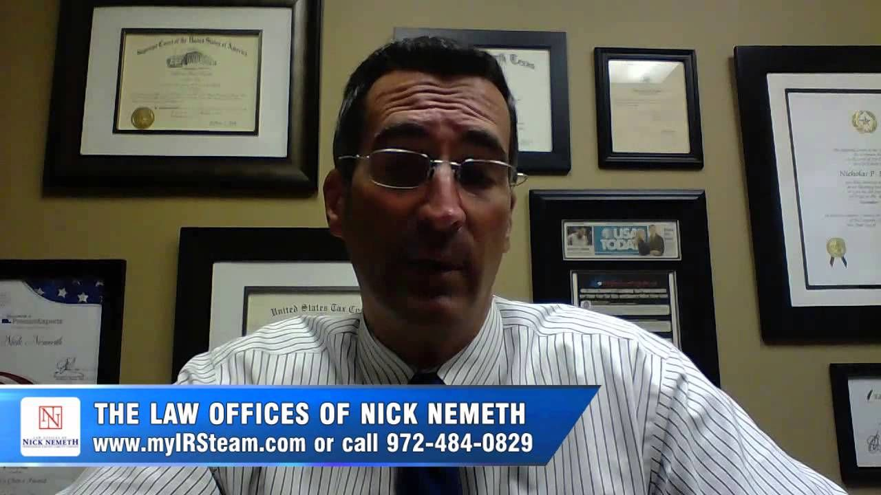 Contact to the law office of nick nemeth dallas texas