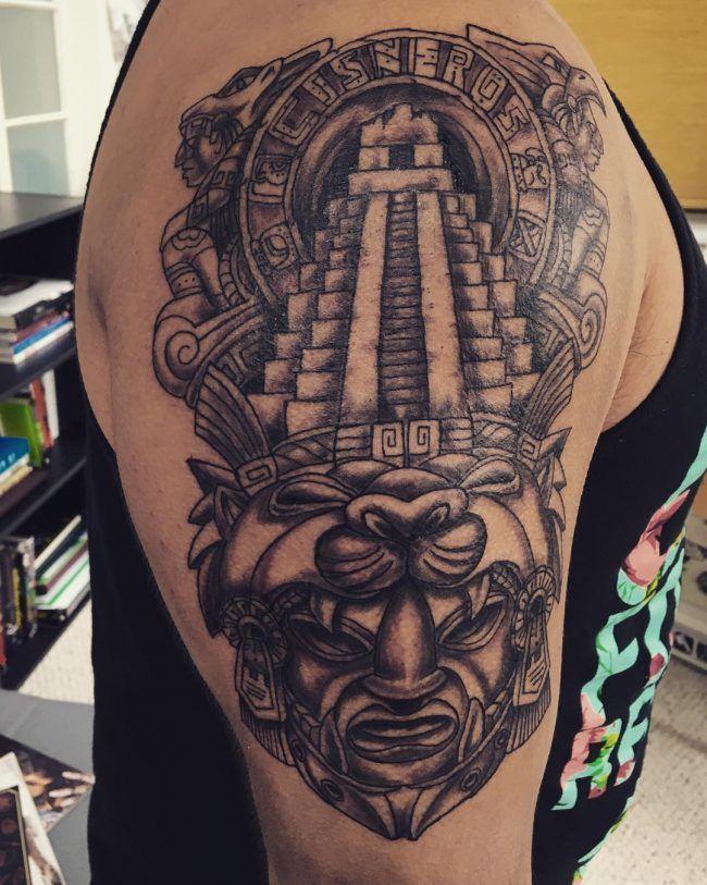 Tatuajes Mayas Guerrero Jaguar Tatuajes Mayas Tatuaje Azteca Y
