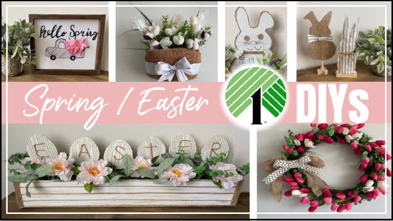 Pin On Dollar Tree Diy Spring Easter Decor Spring Diy Diy Easter Decorations