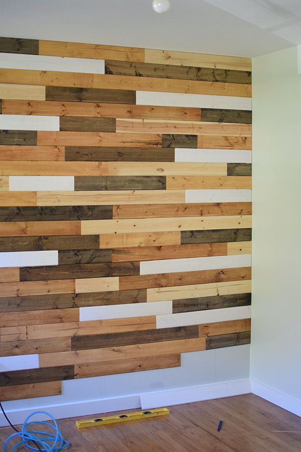 Multi Colored Wood Accent Wall Bedroom In 2019 Wood Wall Wood Wall