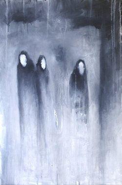Illustration creepy horror dark mysterious Macabre Abstract dark art