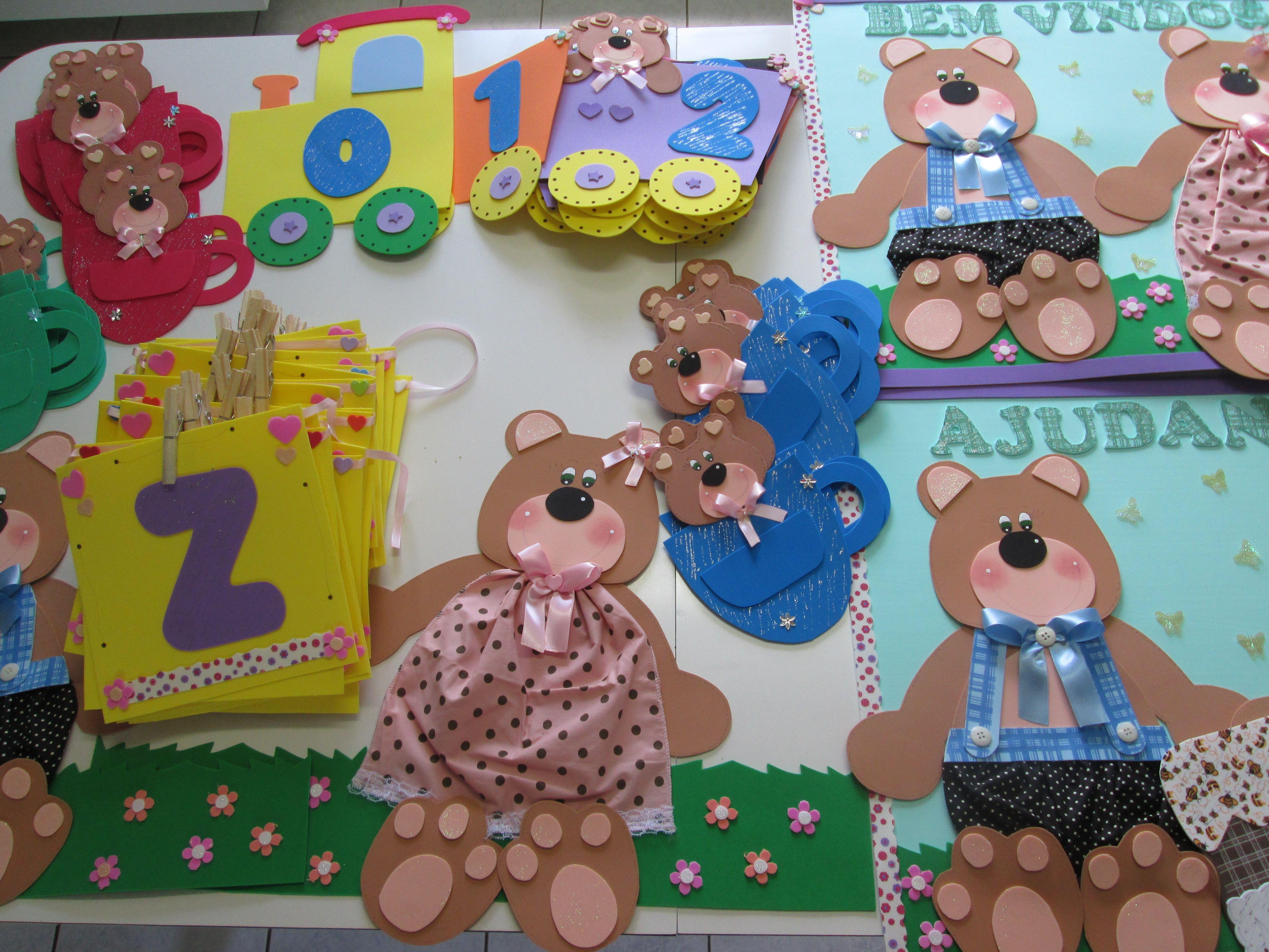 Decoração Sala de Aula Kit Ursos