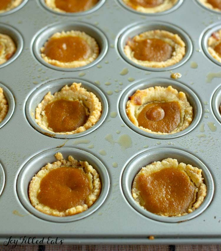 Mini Pumpkin Pies Low Carb Keto Gluten Free Grain Free Sugar