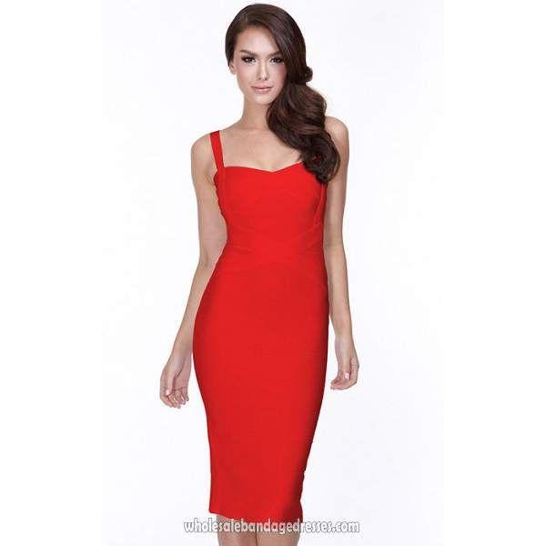 fccea98692d Herve Leger wholesale China shop sell Herve Leger red tank knee length  bandage dress